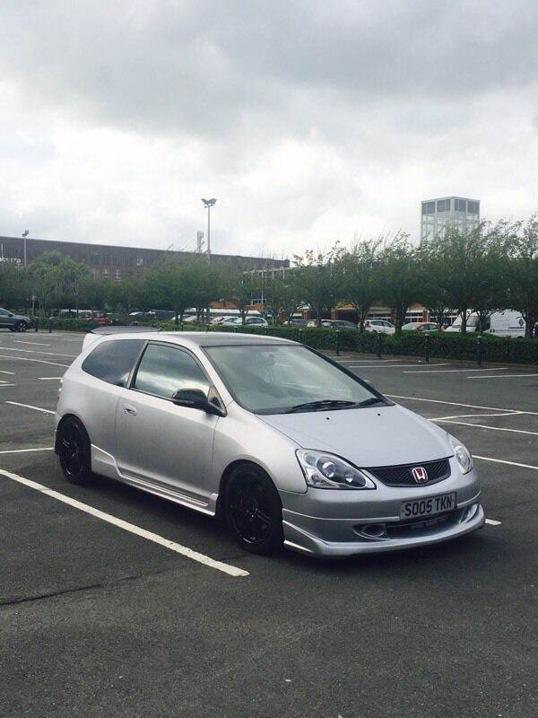 2005 honda civic type r ep3 mugen hpi clear matte silver. Black Bedroom Furniture Sets. Home Design Ideas