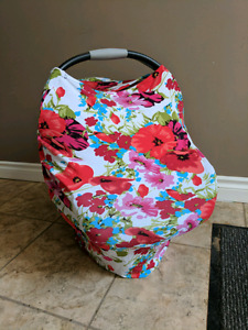 Stretchy carseat cover/ breastfeeding cover
