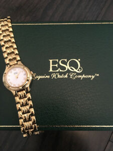 Elegant ESQ gold watch