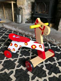 Push along wooden horse