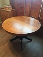 Round, Solid Wood Kitchen Table + 2 Chairs