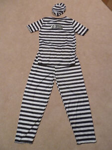 Jail Prisoner Child Costume Size Large-Extra Large
