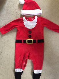 Baby santa onesie. Christmas.