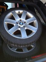 BMW rims and Winter tires 5x120 255/45r17