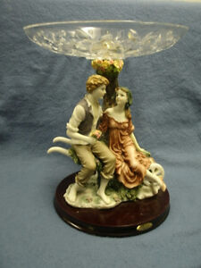 Figurine fruit bowl or convert to lamp