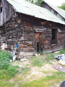 2 old log buildings