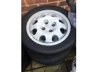 Peugeot 205gti alloys and tyres
