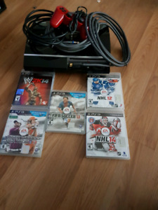 Broken ps3 for parts and games and cords