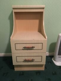 Bedside table and drawers