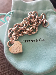 Authentic Tiffany and Co. Bracelet Heart Lock