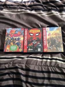 Sega Genesis System + 4 games + 2 justifiers Lethal Enforcers