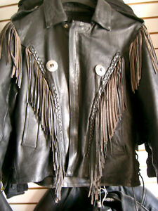 Classic fringed bikers jacket  recycledgear.ca Kawartha Lakes Peterborough Area image 1