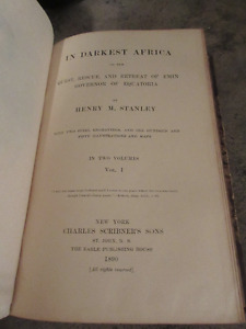 Antique copy In Darkest Africa Henry Stanley 1980  Map included