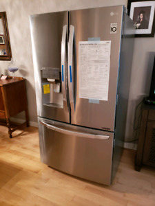"Brand new LG 36"", Stainless Steel French door refrigerator"