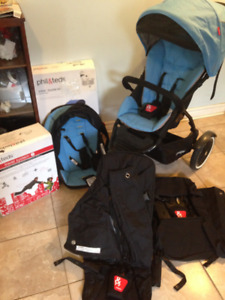Phil & Ted Double Jogging Stroller With Lots Of Extras