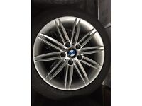 "BMW 1 series SPYDER 17"" staggered alloys with like new Goodyear RUNFLATS 6mm"