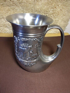 Quality Pewter silver Viking style drinking Tankard