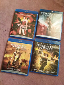 Resident Evil blu-ray (the first 4 in the series)
