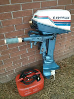 1980 Evinrude 6hp two stroke short shaft outboard motor CDi
