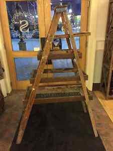Vintage Step Ladder Display Shelving