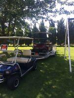 Golf carts / 5x10 trailer