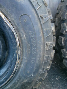 set of ATV rims Great shape front rims with great tires on Cambridge Kitchener Area image 3