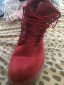 Men's size 11 Red suade timberlands that fold into dress shoes Kitchener / Waterloo Kitchener Area image 3