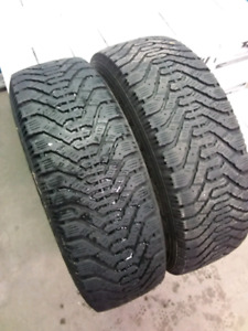 P195/65R15 WINTER TIRES WITH RIMS(set of two)