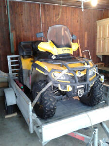 Vtt Can-Am Outlander Max 650 2012 plus remorque