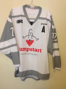 London Knights Aaron Berisha Game Worn JumpStart Jersey ad2118eec5fb
