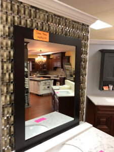 CLEARANCE!! Vanity demo mirrors on floor CLEARANCE now!!