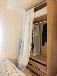 Birch/white stained oak effect, Closet/Wardrobe Solution, PAX