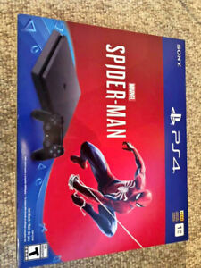 PS4 Slim 1TB system w/ Spider-Man (Sealed new) + 3 games