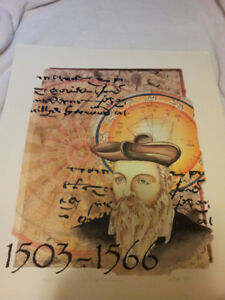 Nostradamus Print The Centuries Hand Signed and Numbered
