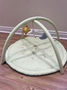 Ikea baby gym floor playmat with soft toys
