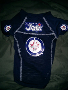 WINNIPEG JETS MESH JERSEY FOR SMALL DOGS-NEW-NEVER WORN