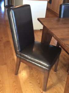 6 bonded leather dining chairs