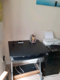 Small computer desk and filing cabinet for sale - barely used