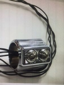 """Polished Double Switches For 1"""" Handlebars"""