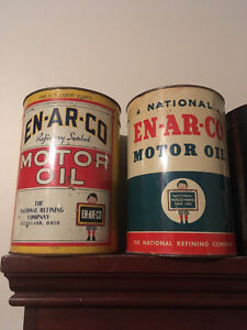 Enarco 5 quart  oil tins