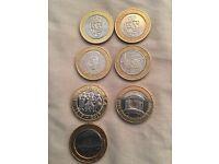 Collectable £2 coins