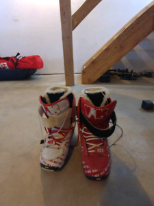 Snow board, bindings, boots