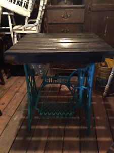 Vintage/Antique Sewing Machine made into table