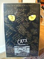Autographed poster from the play Cats + Numbered print of Elgin