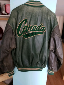 Original ROOTS Leather Vintage Varsity Jacket