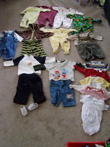 Lot of 3-6 month old boys clothing
