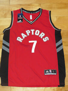 Kyle Lowry Red Raptors Stitched NBA Jersey Sz L