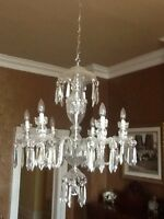 6 Arm Waterford crystal Chandelier. Mint condition