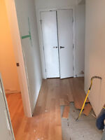 flooring demolition, removal and clean up