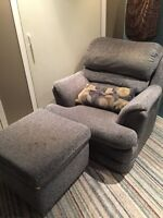 Sofa, love seat, chair and ottoman